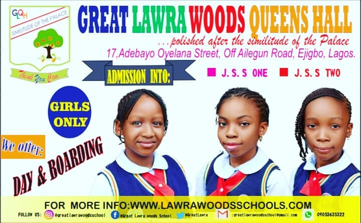 GREAT LAWRA WOODS QUEENS HALL (GIRLS ONLY)