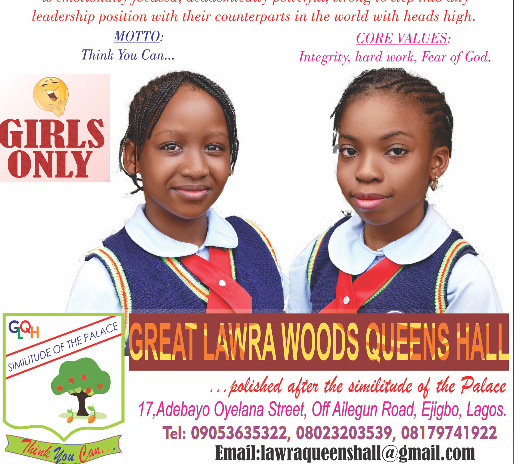 GREAT LAWRA WOODS QUEENS (GIRLS ONLY SCHOOL)